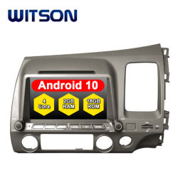 Witson Quad-Core Android 10 coche reproductor de DVD para Honda Civic Rhd Enlace Espejo para Android Mobile+iPhone