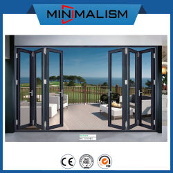 El espesor de 1.2-2.0 Díptico de la puerta de aluminio de aleación de aluminio/Metal/Puerta puerta plegable corrediza//patio/Swing/Casement/vidrio