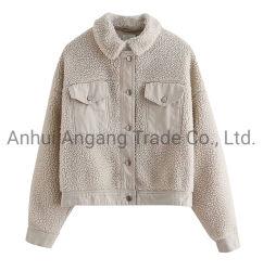 Les femmes veste polaire berbère court de tissu de coton à armure sergé de correspondance