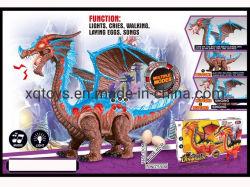 Los niños de los animales a pie de plástico con luz y sonido de tendido eléctrico de huevos de dinosaurio juguete