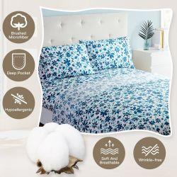 Spot círculo Patten y elemento simple juego de hojas con ropa de cama
