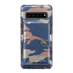 Camo caliente de colorida cubierta de la cartera de cuero de PU para teléfono móvil Samsung S10 5g