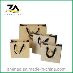 Cosméticos de alta calidad Durable reciclable bolsa de papel de regalo para el embalaje