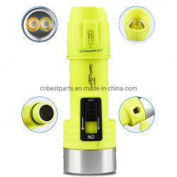 Unterwassertauchens-Licht der 150m Unterwasseratemgerät-Sicherheits-Licht-nachladbares Nachttauchens-Fackel-LED