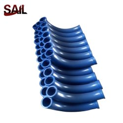 Tubo 125*R500*45 della curvatura del gomito delle parti della pompa per calcestruzzo