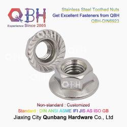 Qbh холодной налаживание 304 316 DIN6923 M5, M20 из нержавеющей стали гайку со стороны