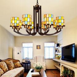 屋内ホーム照明(WH-TF-10)のための本物のTiffanyの吊り下げ式のシャンデリアランプ