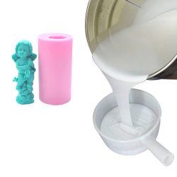 RTV2 silicone bom material de molde para resina / Gypsum Artesanato e arquitetura Decorações borracha de silicone líquida