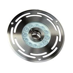 L'acciaio inossidabile 54W 24V di buona qualità 304 impermeabilizza l'indicatore luminoso della fontana di RGB IP68 LED del cambiamento di colore