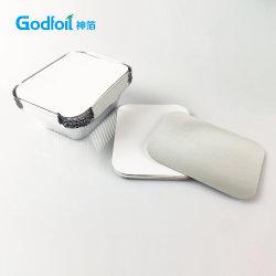 Aluminiumfolie-Behälter lamellierten Karton-Kappen-Deckel