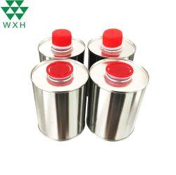 Round lata vazia para pintura automotiva com tampas de plástico do parafuso