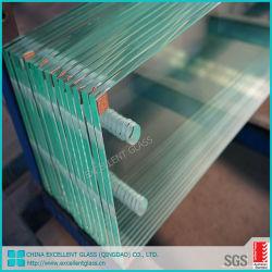 Le verre trempé clair sans cadre coulissante de porte décorative édifice de verre fabriqué en Chine