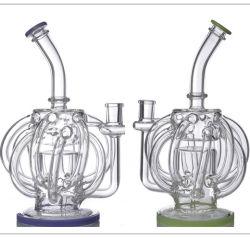 Narghilé di vetro di vetro di Shisha del tubo di fumo del Borosilicate Df2305 con i bei colori