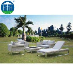 Haut de Gamme de gros de meubles de jardin piscine rotin canapé en osier défini