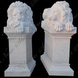 Stone Sculpture en marbre Lion Animal