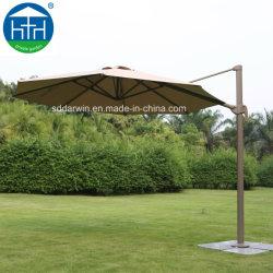 Patio de recreo Roma Metal ajustable paraguas Big sombrilla con base de mármol