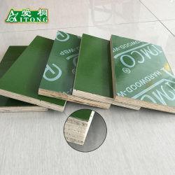 Film en plastique PP vert face modèle composite de contreplaqués de construction