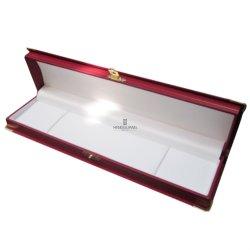 Cupola-Stile su ordinazione con il contenitore di plastica di braccialetto dei monili dell'angolo dell'oro del metallo che sposta la casella impaccante di memoria di carta del regalo del Leatherette