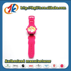 Relógio de pulso de plástico forma Flores assistir os brinquedos para crianças