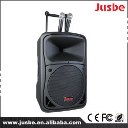 Jusbe 8 pulgadas 200 vatios fabricante Multimedias portátiles Trolley Altavoz Rod altavoz con bluetooth FM USB MP3 Música Paly