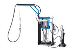 Máquina de llenado de sellador de silicona sellante de dos componentes de la extrusora