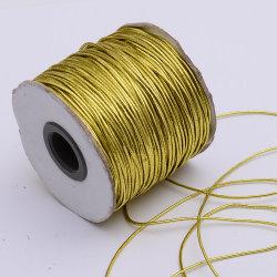 1mm Gold Latex métallique corde élastique