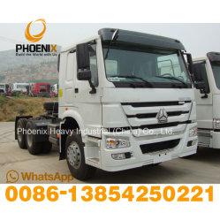 Utilisé 371HP tracteur HOWO Sinotruck tête camion tracteur 6X4 pour le marché africain.