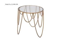 白く自然な大理石の居間のコーヒーテーブル、201ステンレス鋼フレーム