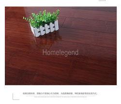 Section parallèle Solid Bamboo Flooring carbonisé vernis UV horizontale de couleur noyer noir lisse