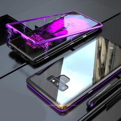 360 Couvercle intégral protégé bâti en métal verre trempé Anti-Fall anti-rayures cas pour Téléphone Mobile Samsung Note9