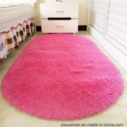 Salone molle Shaggy della camera da letto della coperta di zona della stuoia di colore solido di ellisse del pavimento dei capelli lunghi Shaggy della moquette