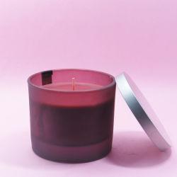 Comercio al por mayor nuevo diseño de velas perfumadas Frasco de vidrio con tapa