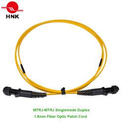 MTRJ-MTRJ シングルモードデュプレックス 1.8 mm 光ファイバパッチケーブル