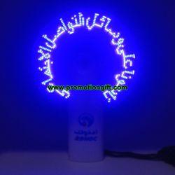 Enciende el LED parpadea ventilador mensaje