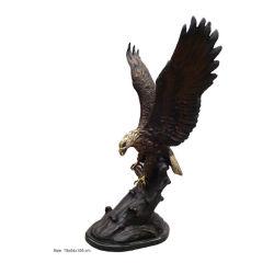 Hausgarten-Dekor-Tierbronzeskulptur-Fliegen-Adler-Statue