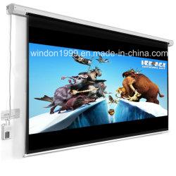 """100"""" 16: 9 HD проектор с электроприводом с электроприводом экран с помощью пульта дистанционного управления заводская цена"""