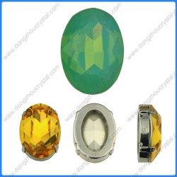 Vert Opale ovale pierres bijoux de perles de cristal