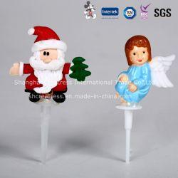 Linda decoración de pastel de Navidad de plástico de Santa Claus