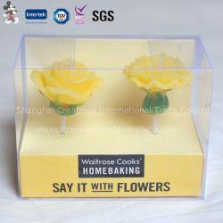 Good-Looking vela con forma de flor de embalaje Caja de PVC