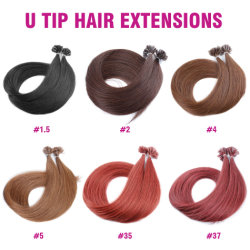 100 % de cheveux humains Nail Tip Hair Extensions