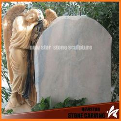 Usine de sculpture sur pierre tombale de granit avec Angel