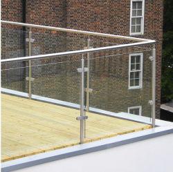 Стекло Balustrade из нержавеющей стали для деки/стекла и стеклянной Baluster блока зажима