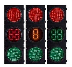 LED-Ampel-Doppelt-Digital-Count-down-Timer mit rotem Grün