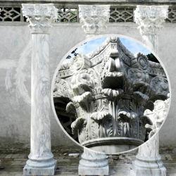 ホーム装飾のコラムの大理石の石の柱