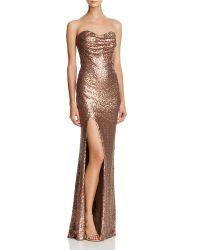 Heiße Verkaufs-Abend-Kleiderträgerlose Sequin-Kleider