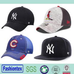 Wholeasale 6 Painel bordado Snapback Cap Mesh Boné de beisebol Algodão boné de beisebol