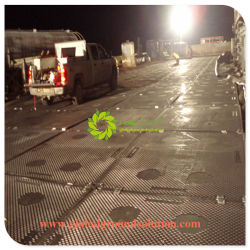 Черный цвет HDPE Контактный коврик /UHMWPE коврики для защиты соединения на массу для тяжелого режима работы/коврики дорожного движения для тяжелого режима работы