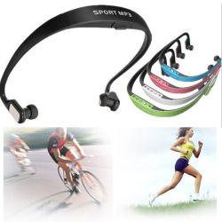 Micro SD de auriculares inalámbricos Deporte Reproductor de música MP3.