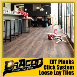 Clique em madeira durável de azulejos do piso de vinil PVC (P-7165)