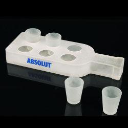 Vasos de vidrio acrílico Contador rack con orificios